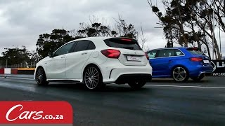 getlinkyoutube.com-Drag Race: Audi RS3 vs Mercedes A45 AMG