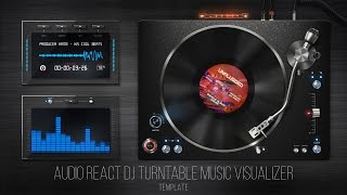 getlinkyoutube.com-Audio React DJ Turntable Music Visualizer - After Effects Template