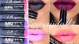 getlinkyoutube.com-L A GIRL MATTE FLAT VELVET LIPSTICK