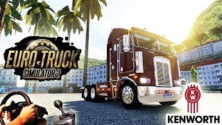 Kenworth K100 - American Trucking (Euro Truck Simulator 2, New TSM Map mod)! HD 1080p 2014.