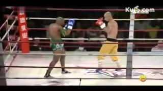 shaolin monk yi long destroy World champion muaythai cyrus washinton