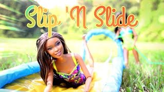 DIY - How to Make:  Doll Slip 'N Slide EASY - Handmade - Doll - Crafts