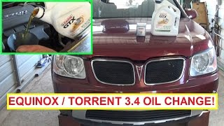 getlinkyoutube.com-Chevrolet Equinox Pontiac Torrent 3.4 Oil Change.  How to Change the oil on Torrent or Equinox
