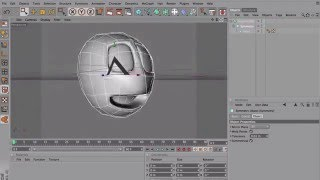 Modeling a simple head with Cinema 4D