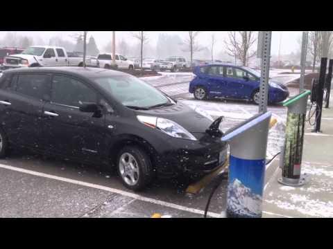 Электромобиль Nissan Leaf Тесты Зимой Электромобиль Nissan Leaf