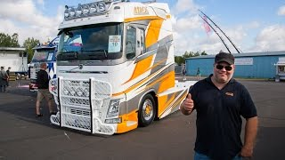 "getlinkyoutube.com-Volvo Trucks - The Longtrotter, a custom Volvo FH with an XL cab - ""Welcome to my cab - light"""
