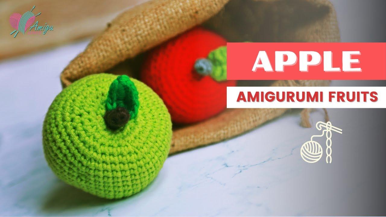 FREE Pattern | How to crochet an APPLE amigurumi | AmiguWorld