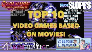 Top 10 Video Games based on Movies from the 80's & 90's!