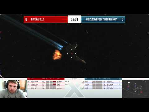 EVE Online - AT10 Day 2 - Rote Kapelle vs PERCUSSIVE PIZZA TIME DIPLOMACY