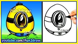getlinkyoutube.com-How to Draw A Minion Egg - Fun2draw