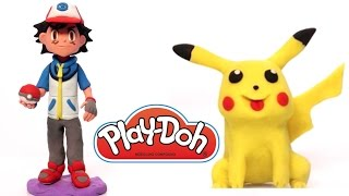 getlinkyoutube.com-Pokemon Pikachu Play Doh How to do it playdo clay