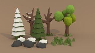 getlinkyoutube.com-| PigArt | BLENDER Tutorial: Low poly forest assets!