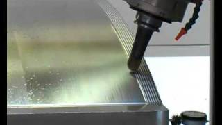 getlinkyoutube.com-Carbon Fiber Panel and his Steel Mould High Speed Machining