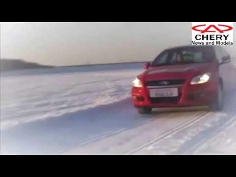 Тест драйв Chery M12 зимой по снегу
