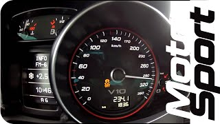 getlinkyoutube.com-Launch Control : Audi R8 V10 Plus 0-300 km/h (Motorsport)