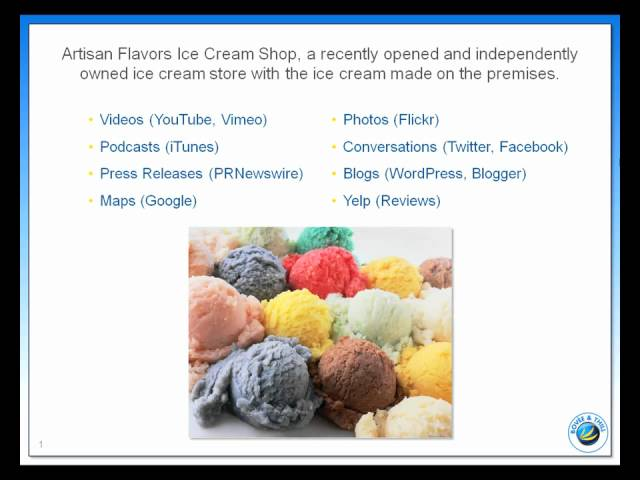 How Artisan Flavors Ice Cream, a New Business, Uses Social Media