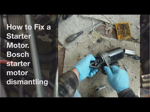 How to Fix a Starter Motor. Remove, Dismantle and Fix a Bosch Starter Motor on MG Rover