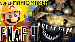 getlinkyoutube.com-Super Mario Maker FIVE NIGHTS AT FREDDY'S 4 Bedroom Course (Wii U)