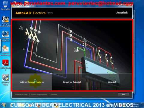 CURSO DE AUTOCAD ELECTRICAL 2013 EN ESPAÑOL, VIDEO TUTORIAL ESPAÑOL, MANUAL AUTODESK ELECTRICAL