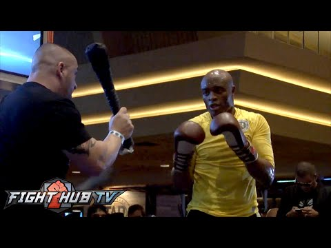 Anderson Silva vs. Nick Diaz- UFC 183 open workout highlights