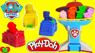 getlinkyoutube.com-Paw Patrol Play Doh Mold Playset