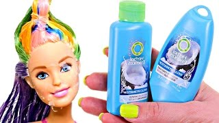 How to Dye Barbie's Hair | DIY Barbie Doll Hair Coloring | SUPER EASY