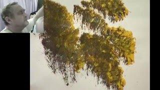 getlinkyoutube.com-Brush and knife techniques explained - Len Hend Painting Live Stream