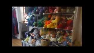 getlinkyoutube.com-I show you my Yarn Stash, You show me yours!