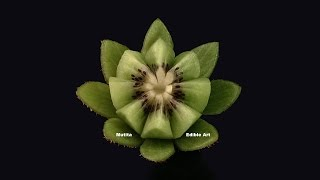 getlinkyoutube.com-Beautiful Kiwi Fruit Lotus Flower - Beginners Lesson 3 By Mutita Art In Fruit And Vegetable Carving