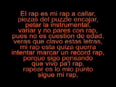 letra de cancion rap: