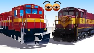 getlinkyoutube.com-CUBE BUILDER for KIDS (HD) - Build a Train Engine for Children - AApV