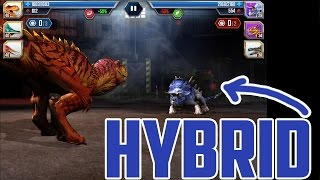 getlinkyoutube.com-Fighting hybrids - Jurassic world the game - Maxed