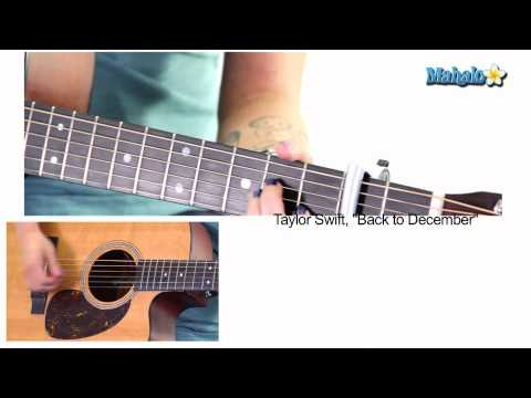 "How to Play ""Back To December"" by Taylor Swift on Guitar -rubRyz3bKwg"