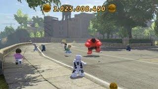 getlinkyoutube.com-LEGO Marvel Super Heroes - Unlocking Spider Man (F.F.) + Free Roam Gameplay (Character Token Guide)