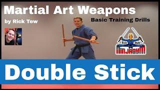 getlinkyoutube.com-Double Stick Training Drill in the Martial Arts by Sensei Rick Tew and NinjaGym.com