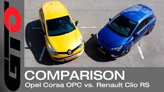 getlinkyoutube.com-Opel Corsa OPC vs Renault Clio RS Trophy vs Peugeot 208 GTi - AutoWeek Triotest