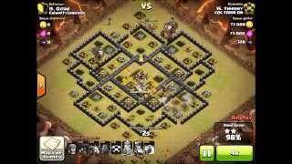 getlinkyoutube.com-Ataque aéreo CV 9 !!! 100% de destruição PT !! Guerra War Clash of clans!!!
