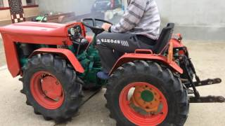 getlinkyoutube.com-Unloading trailer Goldoni 224 4x4 mini tractor