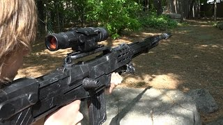 getlinkyoutube.com-LONGEST NERF SNIPER RIFLE EVER!!