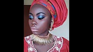 getlinkyoutube.com-Como amarrar Turbante de forma Nigeriana
