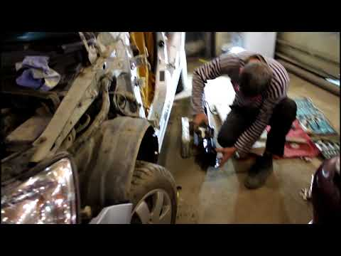 Кузовной ремонт. Замена порогов на Hyundai Getz. Часть 1
