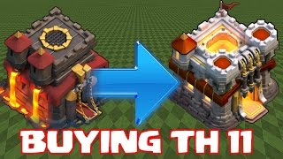 getlinkyoutube.com-Clash Of Clans - BUYING TH11 NEW UPDATE!!! Ep#1 (60fps w/ Raids)