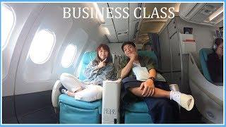 บินไปเกาหลีอีกแล้ว ไม่แคล้วลอง business class width=