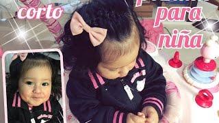 getlinkyoutube.com-Peinado para niña cabello corto
