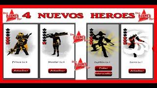 getlinkyoutube.com-League of Stickman 2.3.0 (4 NUEVOS HEROES) Capitan-Prince-Shooter y Zorro