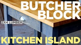 getlinkyoutube.com-Mike Makes a Butcher Block Kitchen Island