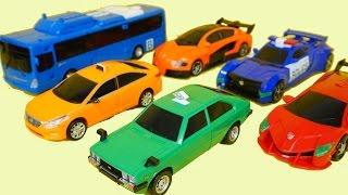 getlinkyoutube.com-헬로카봇 로드세이버 카봇삼총사 나이트 루크 폰 자동차 장난감 Hello Carbot Car Toys