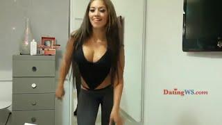 getlinkyoutube.com-Sexy busty girl in thong dances