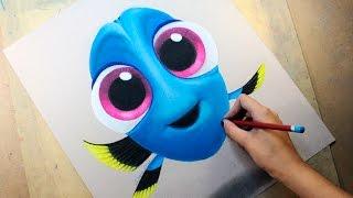 getlinkyoutube.com-Speed Drawing: Baby Dory (Finding Dory | Buscando a Dory) | Diana Díaz