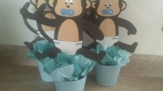getlinkyoutube.com-changuitos (centro de mesa baby shower)